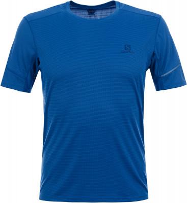 Футболка мужская Salomon Agile, размер 44-46Мужская одежда<br>Футболка с коротким рукавом salomon agile ss для комфорта и ощущения прохлады во время пробежки.