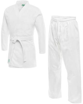 Кимоно для карате Green Hill ClubНа тренировки по карате надевают кимоно эта спортивная одежда не стесняет движений и позволяет проводить комфортные спарринги на татами.<br>Пол: Мужской; Возраст: Дети; Вид спорта: Карате; Состав: Хлопок; Производитель: Green Hill; Артикул производителя: KSC-10044; Страна производства: Пакистан; Размер RU: 140 см;